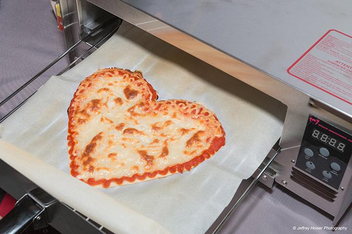 la pizza napoletana stampata in 3D può avere diverse forme