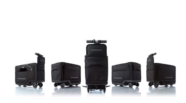 modobag è una valigia elettrica che si trasforma in scooter