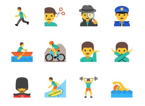 Le emoji di Google per gli uomini che lavorano.