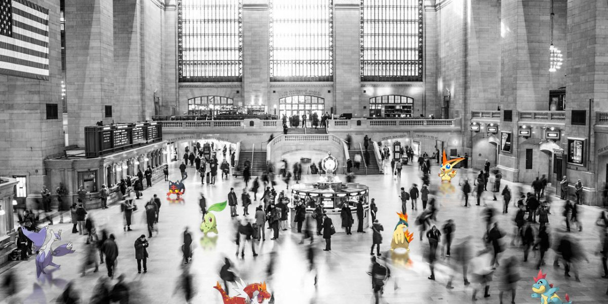 Gran Central Station, NY con pokemon go
