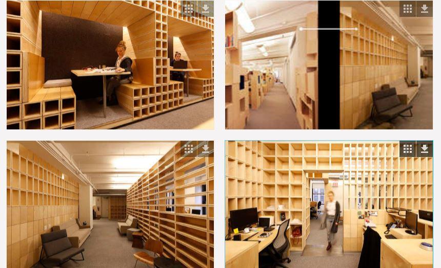 il legno facilita il coworking a New York