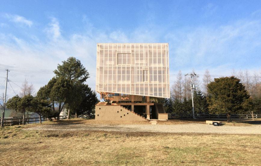 legno anche per l'edificio ecologico giapponese ad Hokkaido