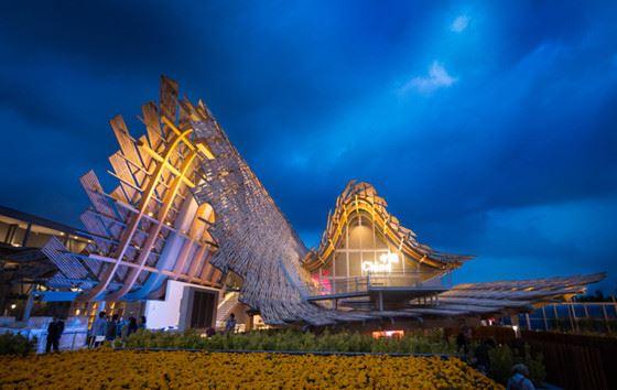 legno anche per il padiglione cinese expo2015