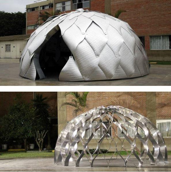 architettura sostenibile: tenda rifugiati Matriz